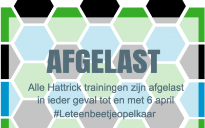 Alle activiteiten per direct afgelast tot 6 april